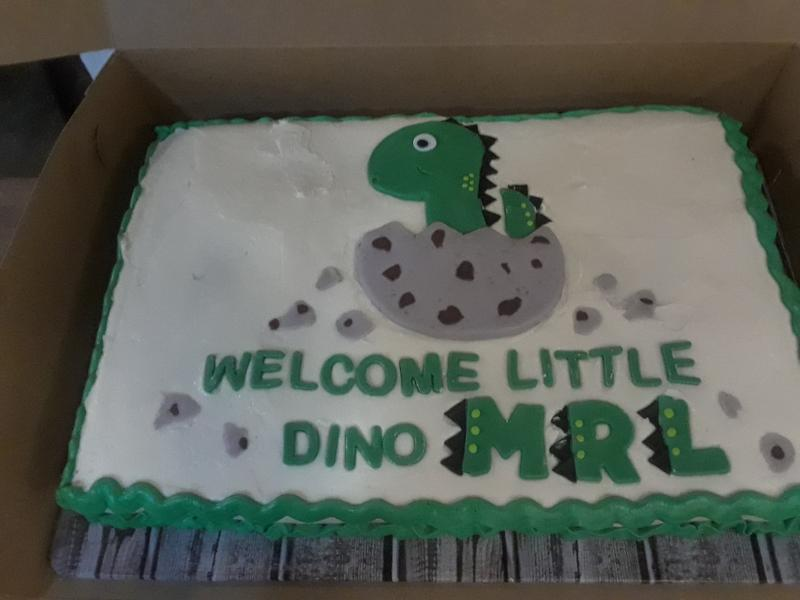 Little Dino Baby Shower Cake