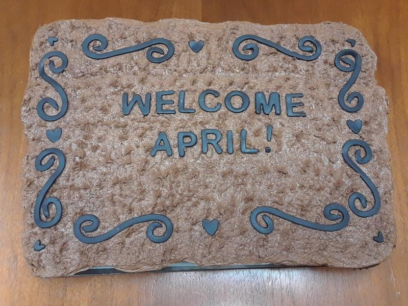 Welcome Mat Cupcake Cake
