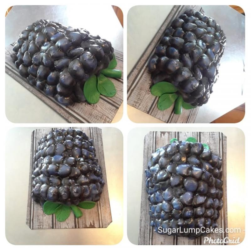 3D Blackberry Cake