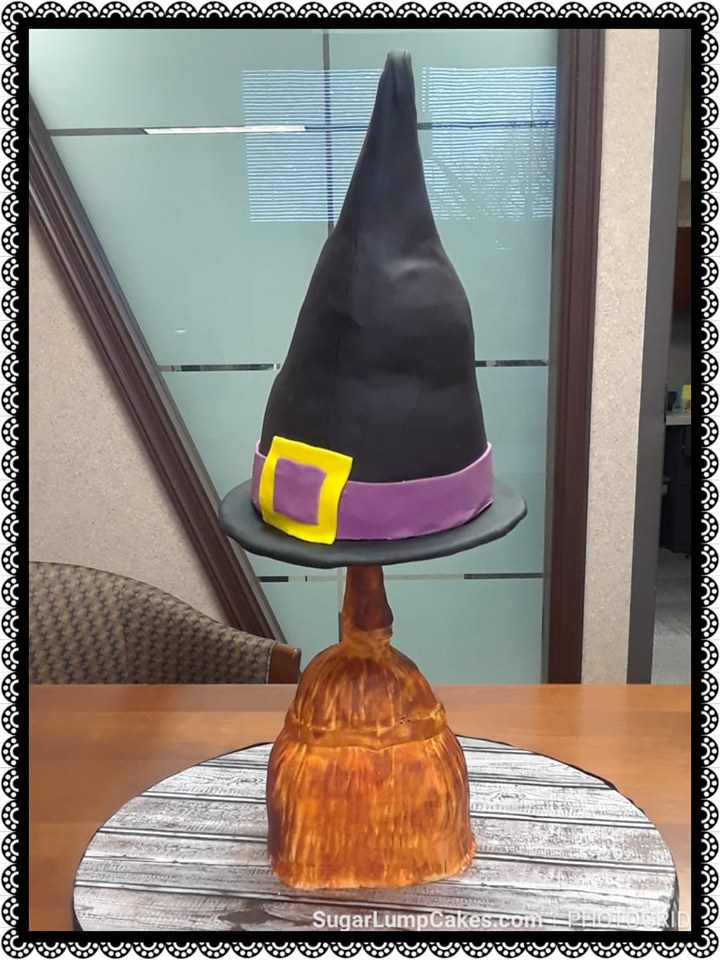 Happy Halloween!!  A Witch's Hat sitting on her Broom.