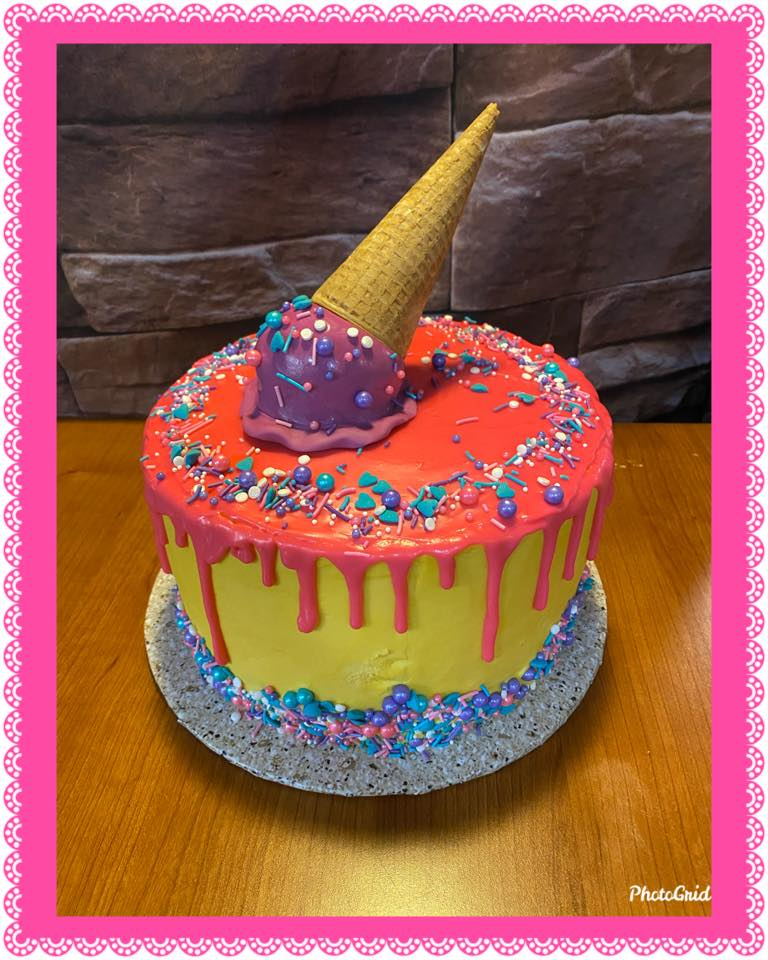 Fun Icecream Scoop Cake
