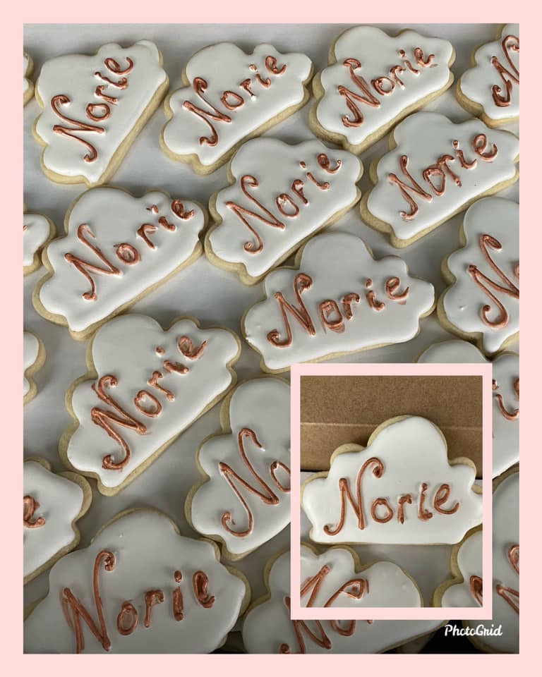 Baby Shower Cloud Cookies