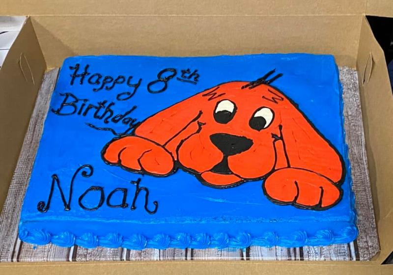 Clifford the Big Red Dog Themed Cake