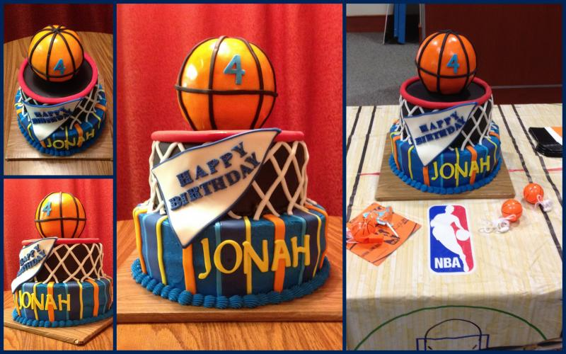 Basketball Themed Birthday Cake