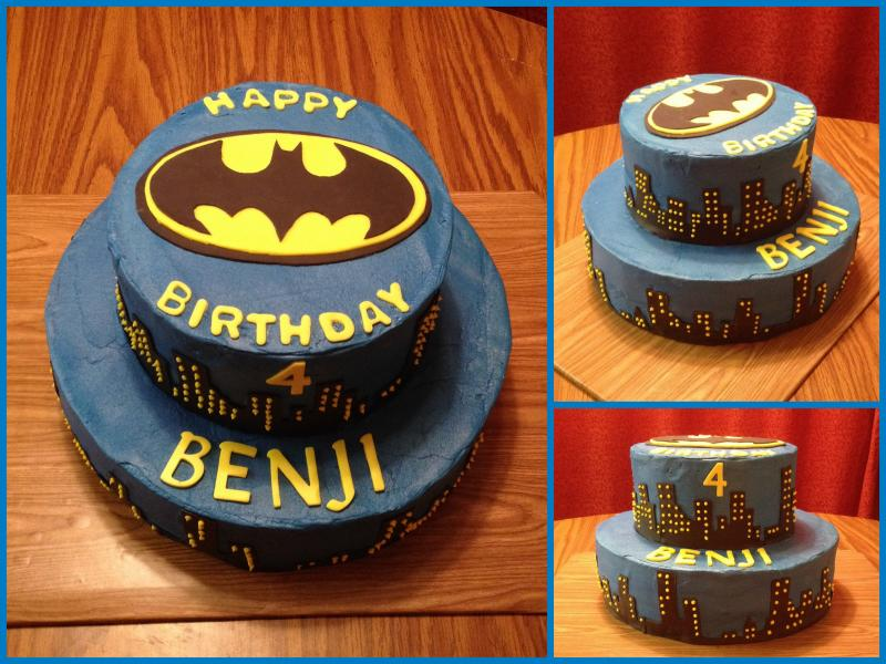 Batman Skyline Cake