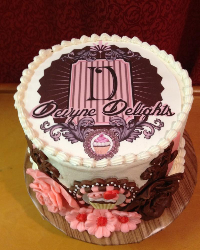 Devyne Delights Logo Birthday Cake