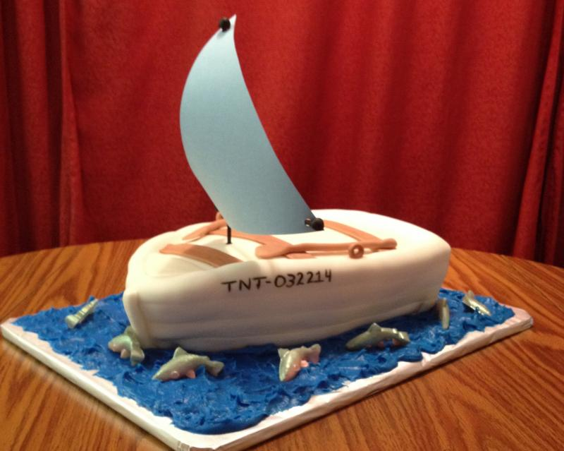 Rowboat Groom's Cake