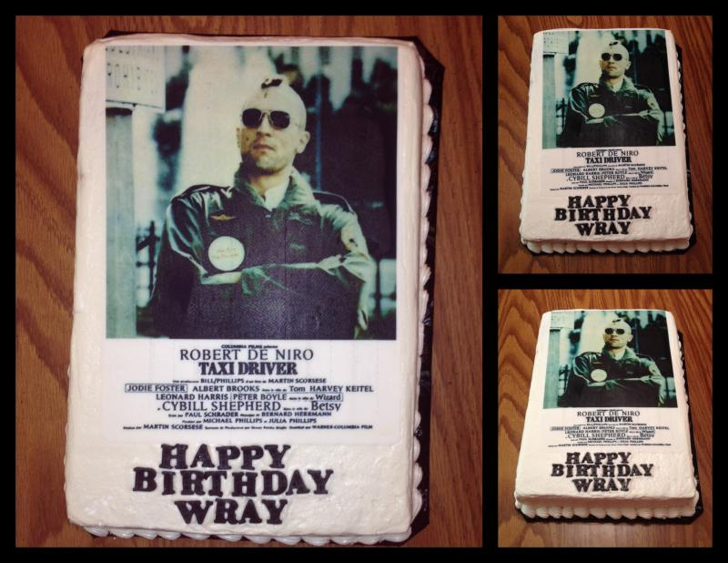 Taxi Driver Movie Poster Cake