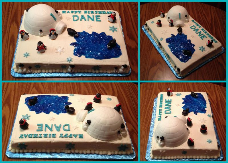 Winter Wonderland 1st Birthday Cake